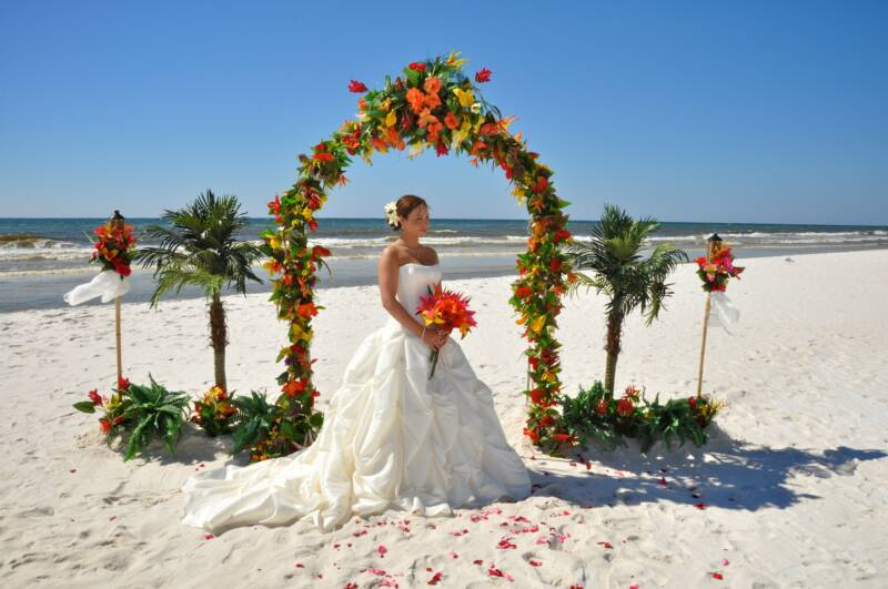 pensacola beach weddingsPanama City beach wedding package